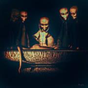 Alien Autopsy Alien Abduction Print by Bob Orsillo