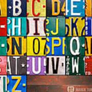 Alphabet License Plate Letters Artwork Print by Design Turnpike