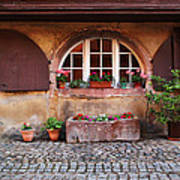 Alsatian Home In Kaysersberg France Print by Greg Matchick