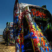 Amarillo -  Cadillac Ranch 006 Print by Lance Vaughn