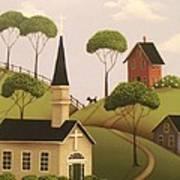 Amber Hills Print by Catherine Holman