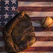 American Baseball Print by Garry Gay
