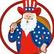 American Father Christmas Santa Claus Print by Aloysius Patrimonio