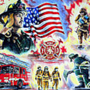 American Firefighters Print by Andrew Read