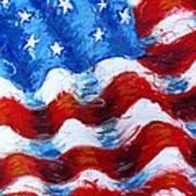 American Flag Print by Venus