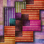 American Flags Print by Tony Rubino