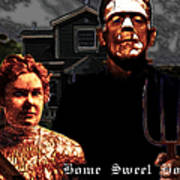 American Gothic Resurrection Home Sweet Home 20130715 Print by Wingsdomain Art and Photography