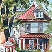 American Home With Children's Gazebo Print by Kip DeVore