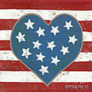 American Love Print by Kristi L Randall