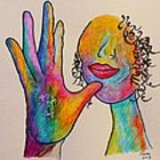 American Sign Language . . .  Mother Print by Eloise Schneider
