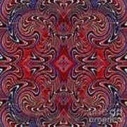 Americana Swirl Design 1 Print by Sarah Loft