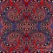 Americana Swirl Design 2 Print by Sarah Loft