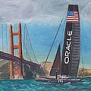 Americas Cup By The Golden Gate Print by James Lopez