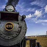 Amish Farmland And Brilliant Blue Sky Frame #475 Steam Engine - Strasburg Rr   02 Print by Mark Serfass