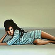 Amy Winehouse 2 Print by Paul Meijering