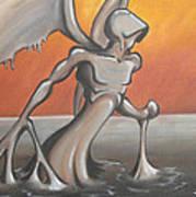An Angel Out Of Oil Print by Jeffrey Oleniacz