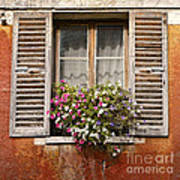 An Old French Window Print by Olivier Le Queinec