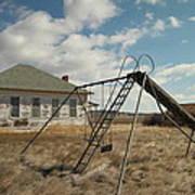 An Old School Near Miles City Montana Print by Jeff Swan