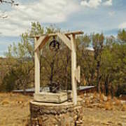 An Old Well In Lincoln City New Mexico Print by Jeff Swan