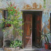An Open Door Milan Italy Print by Anna Rose Bain
