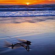 Anchor Ocean Beach Print by Garry Gay