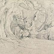 Ancient Trees Lullingstone Park Print by Samuel Palmer