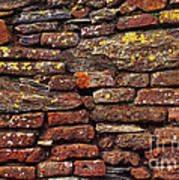 Ancient Wall Print by Carlos Caetano