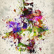 Anderson Silva Print by Aged Pixel