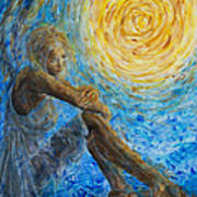 Angel Moon II Print by Nik Helbig
