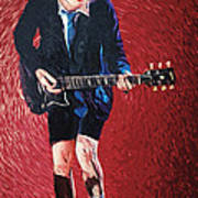 Angus Young Print by Taylan Soyturk