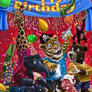 Animal Birthday Party Print by Martin Davey