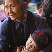Ann Tribal Grandmother - Kengtung Burma Print by Craig Lovell