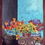Annie's Flowers Print by Yvonne Gillengerten