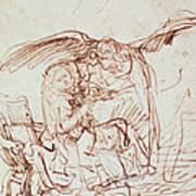 Annunciation  Print by Rembrandt Harmenszoon van Rijn