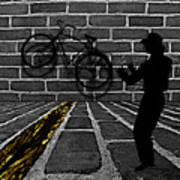 Another Bike On The Wall Print by Barbara St Jean