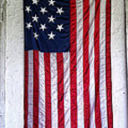 Antique American Flag Print by Olivier Le Queinec