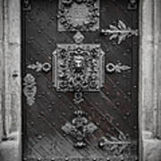 Antique Doors In Budweis Print by Christine Till