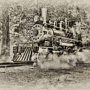 Antique Train Print by Bill Wakeley