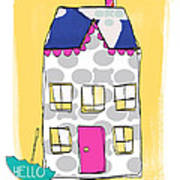 April Showers House Print by Linda Woods