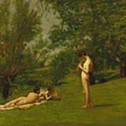 Arcadia Circa 1883 Print by Thomas Cowperthwait Eakins