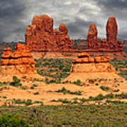 Arches National Park - A Picturesque Drama Print by Christine Till
