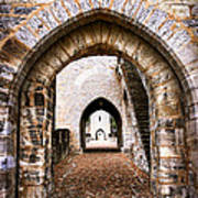 Arches Of Valentre Bridge In Cahors France Print by Elena Elisseeva