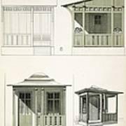 Architecture In Wood, C.1900 Print by Richard Dorschfeldt