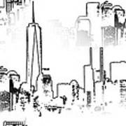Architecture Of New York City Print by Dan Sproul