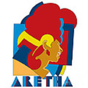 Aretha Franklin No.05 Print by Caio Caldas