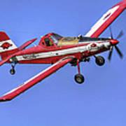 Arkansas Razorbacks Air Tractor Print by Jason Politte