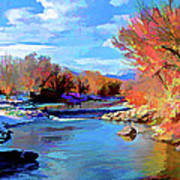 Arkansas River In Salida Co Print by Charles Muhle
