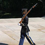 Arlington National Cemetery - Tomb Of The Unknown Soldier - 12124 Print by DC Photographer