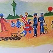 Arrested For Breaking Print by Hori Kiwara