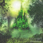 Arrival To Oz Print by Mo T